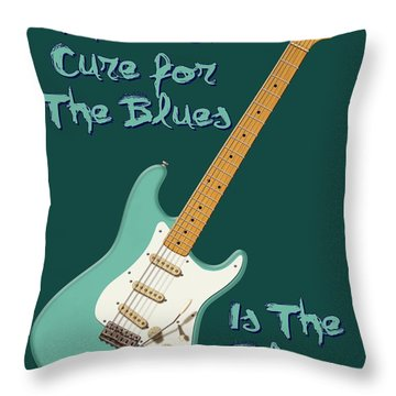 Blues Cure Seafoam Throw Pillow