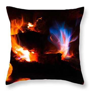 Blue's Dance Throw Pillow by Christopher Holmes