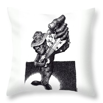 Blues Guitar Throw Pillow by Tobey Anderson