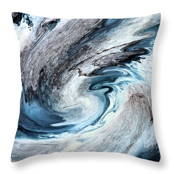 Throw Pillow featuring the photograph Blues by Kristin Elmquist