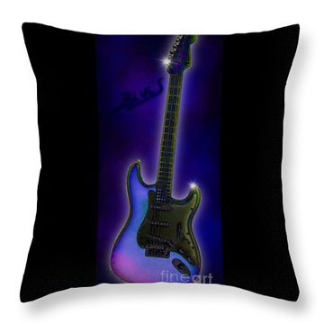 Throw Pillow featuring the digital art Blues  by Nick Gustafson