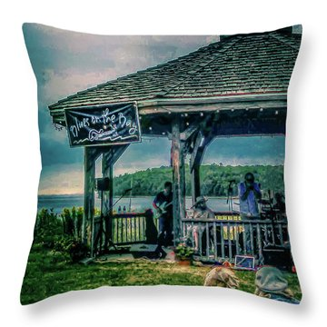 Blues On The Bay Throw Pillow