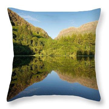 Blues Skies In Glencoe Throw Pillow