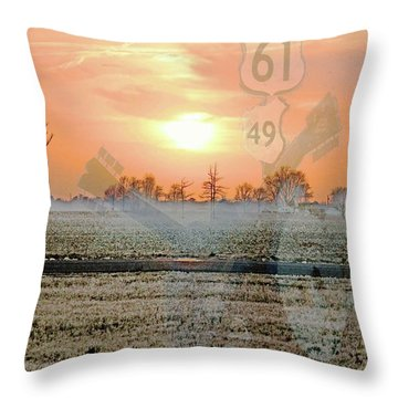 Blues Trail Throw Pillow