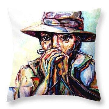 Blues Traveler  Throw Pillow by Lloyd DeBerry