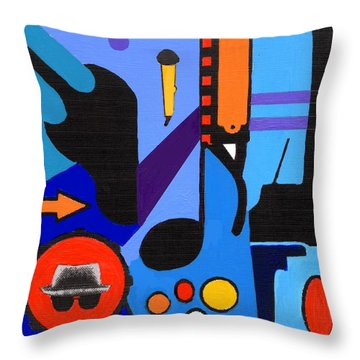 Blues1 Throw Pillow