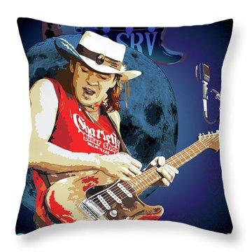 Bluesman Throw Pillow by Gary Grayson