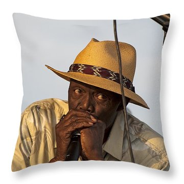 Bluesman1 Throw Pillow by Kenneth Albin