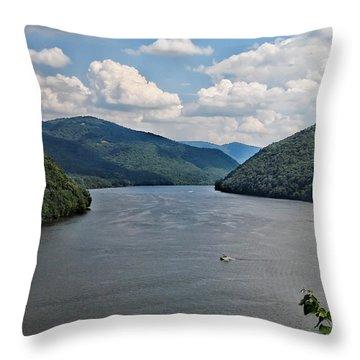 Bluestone Lake - Hinton West Virginia Throw Pillow