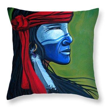 Bluface Throw Pillow