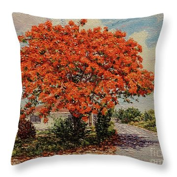 Bluff Poinciana Throw Pillow