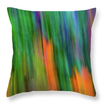 Blurred #2 Throw Pillow