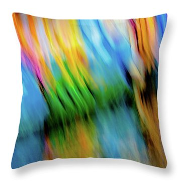 Blurred #5 Throw Pillow