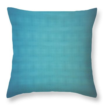 Blurred Abstract Blue Wall Throw Pillow