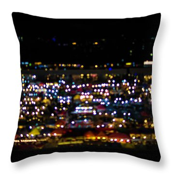 Blurred City Lights  Throw Pillow