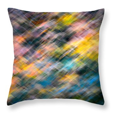 Blurred Leaf Abstract 1 Throw Pillow