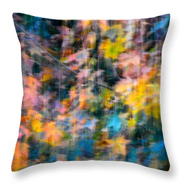Blurred Leaf Abstract 2 Throw Pillow
