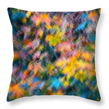 Blurred Leaf Abstract 3 Throw Pillow