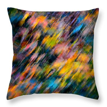 Blurred Leaf Abstract 4 Throw Pillow