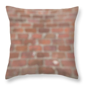 Throw Pillow featuring the photograph Blurred Orange Brick Wall,floor Exterior,interior Pattern Design by Jingjits Photography