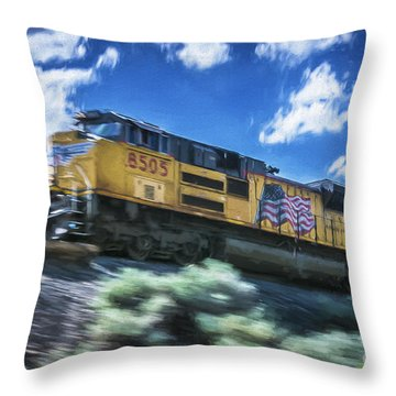 Blurred Rails Throw Pillow