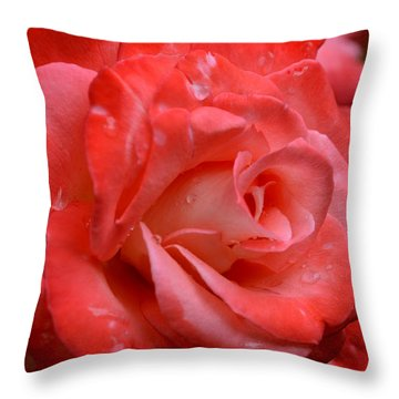 Blush After The Rain Throw Pillow