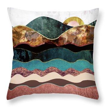 Blush Moon Throw Pillow