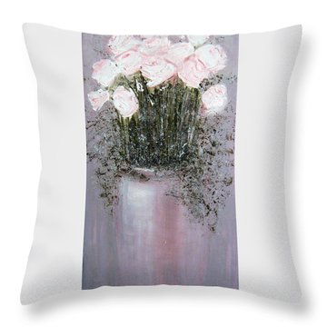 Blush - Original Artwork Throw Pillow