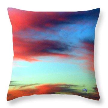 Blushed Sky Throw Pillow by Linda Hollis