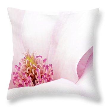 Blushing Magnolia Throw Pillow