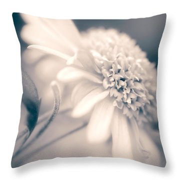 Throw Pillow featuring the photograph Blushing Mum by Julie Palencia