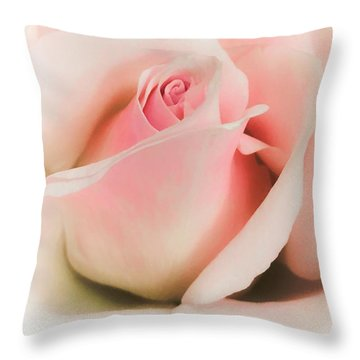 Blushing Petals Throw Pillow