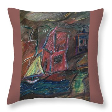 Bluster Throw Pillow