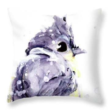Throw Pillow featuring the painting Blustery by Dawn Derman