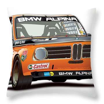 Bmw 2002 Alpina Illustration Throw Pillow