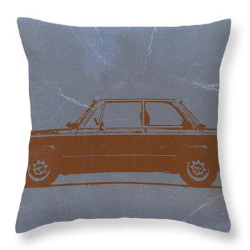 Bmw 2002 Orange Throw Pillow