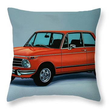 Bmw 2002 1968 Painting Throw Pillow