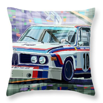 Bmw 3 0 Csl 1st Spa 24hrs 1973 Quester Hezemans Throw Pillow