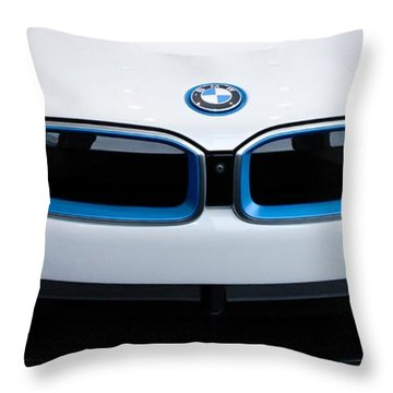 Throw Pillow featuring the photograph Bmw E Drive I8 by Aaron Berg