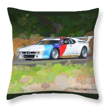 Bmw M1 Throw Pillow