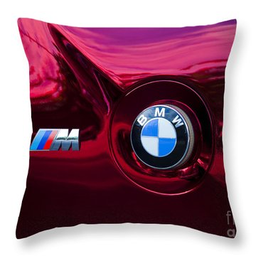Bmw M3 Badges Throw Pillow