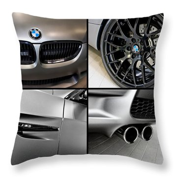 Throw Pillow featuring the photograph Bmw M3 Collage by Aaron Berg