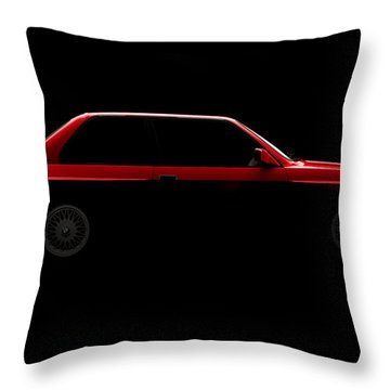 Bmw M3 E30 - Side View Throw Pillow