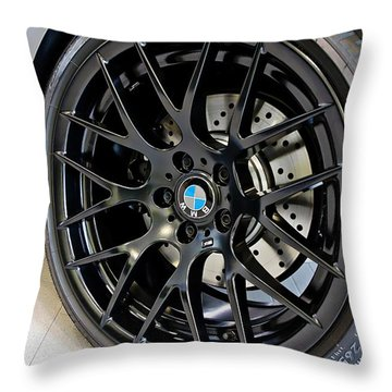 Throw Pillow featuring the photograph Bmw M3 Wheel by Aaron Berg
