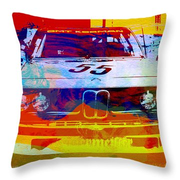 Bmw Racing Throw Pillow