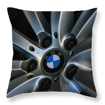 Bmw Wheel Throw Pillow by Robert Hebert