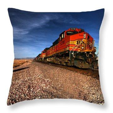 Train Throw Pillows Fine Art America