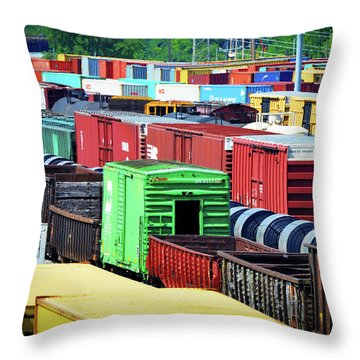 Bnsf Lindenwood Yard Throw Pillow