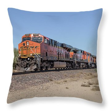 Throw Pillow featuring the photograph Bnsf7890 by Jim Thompson