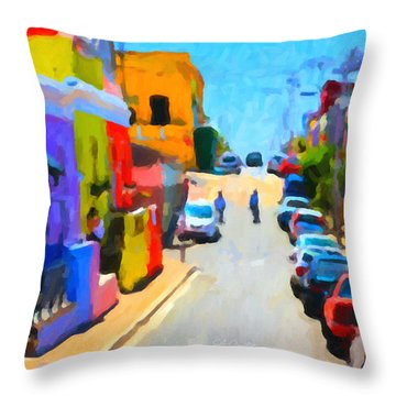 Throw Pillow featuring the painting Bo-kaap by Chris Armytage
